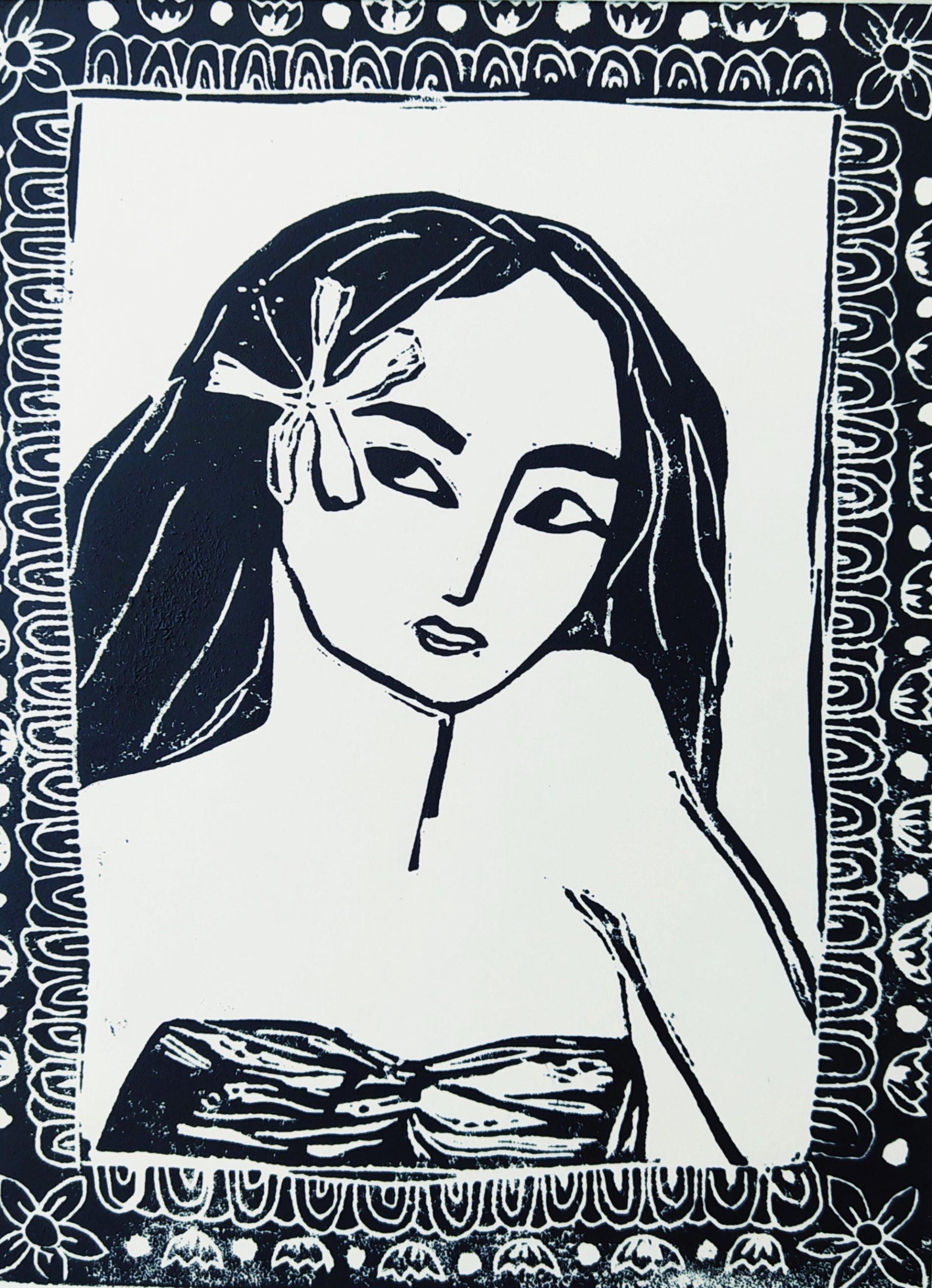 La femme à l'hibiscus par Carole Durand
