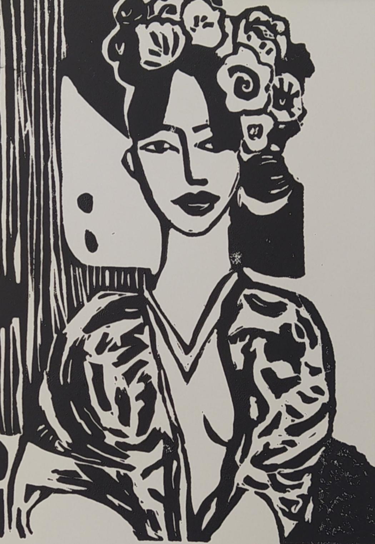 Femme au kimono par Carole Durand