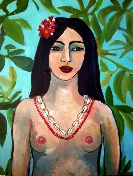 Femme aux colliers par Carole Durand